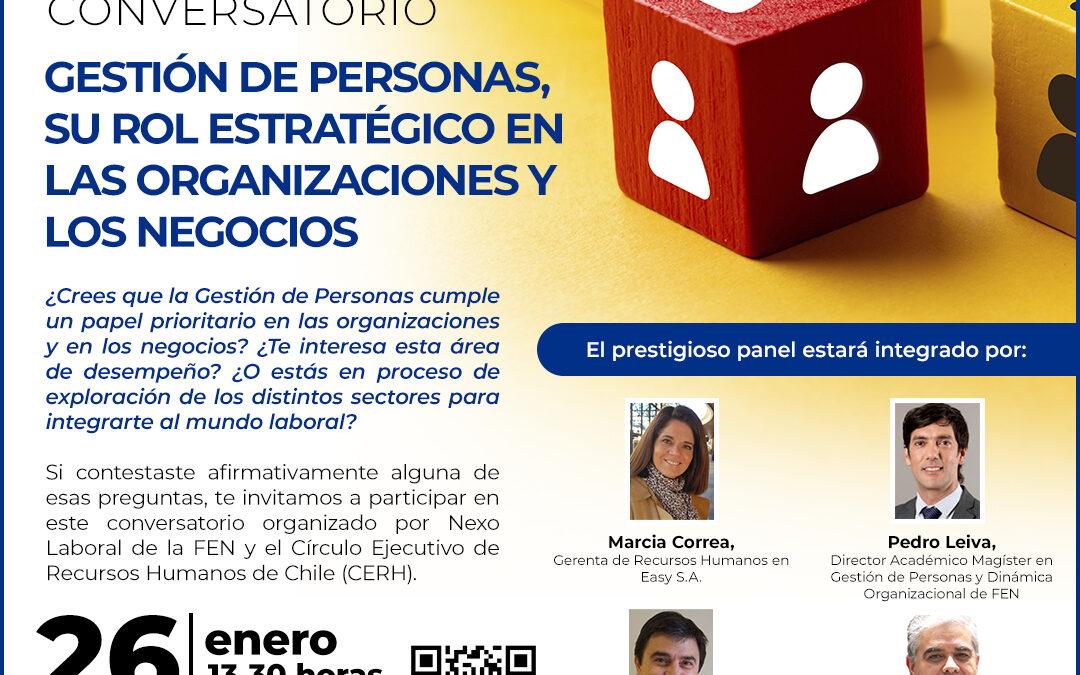 """Conversatorio """"Gestión de Personas, su rol estratégico en las organizaciones y los negocios"""""""