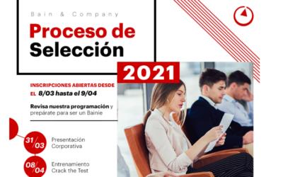 Bain & Company: Proceso de selección 2021